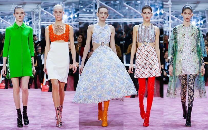 d69683d7cb30 Style Notes  оп-арт, 1960-е и футуризм на показе Christian Dior ...