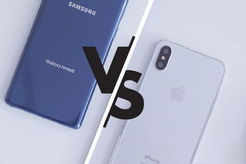 Выбираем гаджет:  Apple iPhone X или Samsung Galaxy Note 8?