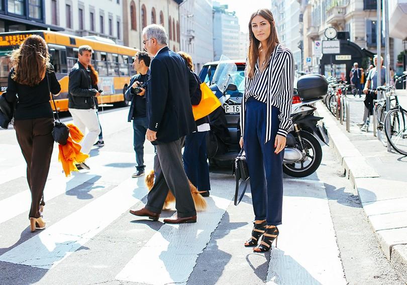 Street Style  уличный стиль на Неделе моды в Милане   Posta-Magazine ... e439433595f