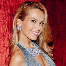 Фотоувеличение: Петра Немцова примерила украшения из коллекции Chopard Red Carpet на выставке Baselworld