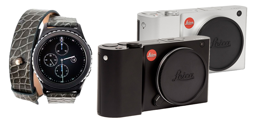 Часы The Samsung Gear S2 smartwatch;  камера Leica T701