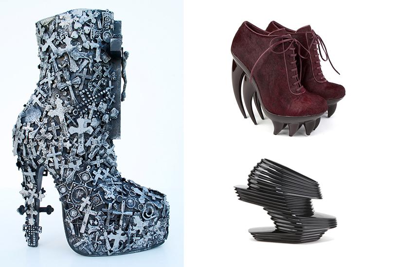 Выставка дизайнерской обуви в Музее современного искусства Эрарта в Санкт-Петербурге