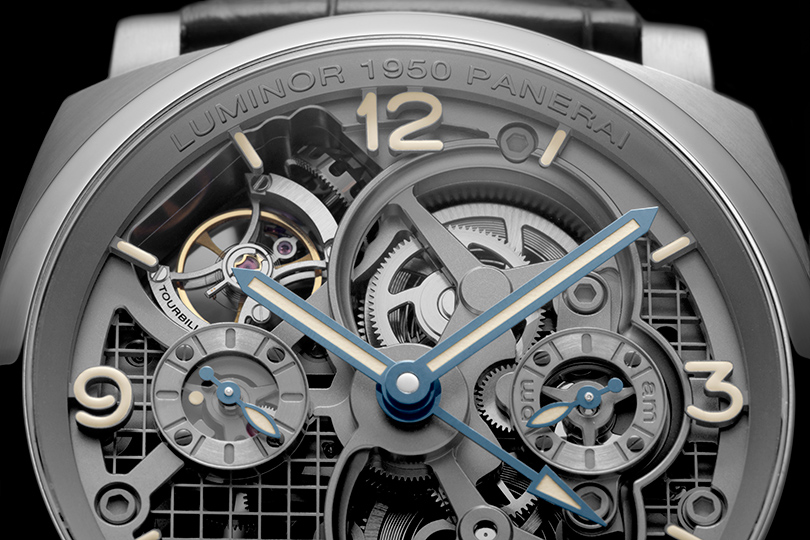 SIHH-2016: Luminor 1950 Tourbillon GMT Titanio от Panerai