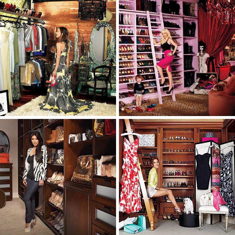 Дизайн & Декор: стильная и удобная гардеробная — как ее организовать? Оливия Уайлд, Кристина Агилера, Ева Лонгория, Ким Кардашян