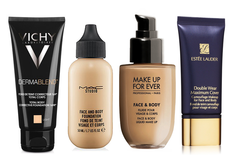 Плотные тональные основы для тела и лица: 