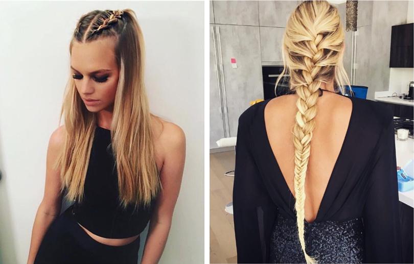 Прически распущенными волосами и косами