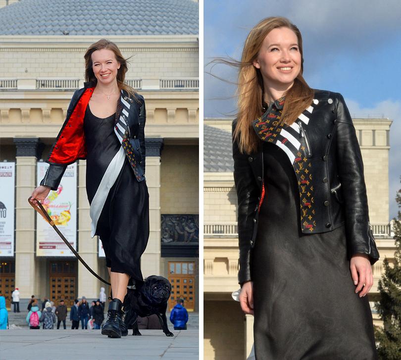 Celebrity Travel. Ида Кехман: Новосибирск— город моего детства. На Иде: куртка и платье Louis Vuitton