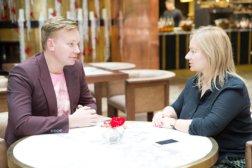 Генеральный директор Clarins Russia Эдгар Шабанов и Татьяна Сабуренкова — основатель и главный редактор Интернет-журнала о качестве жизни Posta-Magazine
