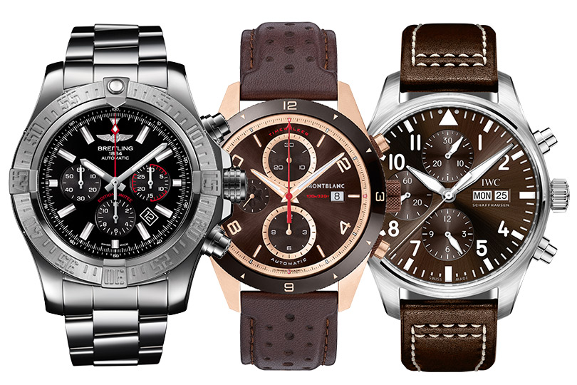 Breitling Super Avenger 01, Montblanc TimeWalker, IWC Big Pilot's Watch Double Chronograph