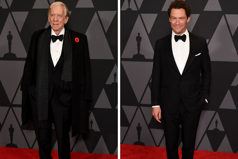 Весь свет Голливуда на премии Governors Awards. Дональд Сазерленд. Доминик Уэст