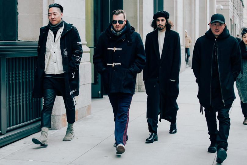 Уличный стиль недели мужской моды в Нью-Йорке сезона осень-зима 2019-2020 изоражения