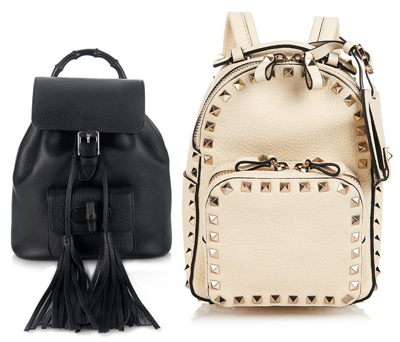 9c7165932365 Мини-рюкзак с декоративными кисточками Gucci, рюкзак с заклепками Valentino