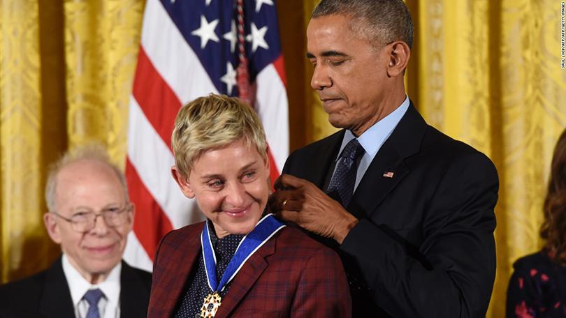 Women inPower: Эллен Дедженерес получила отБарака Обамы медаль Свободы
