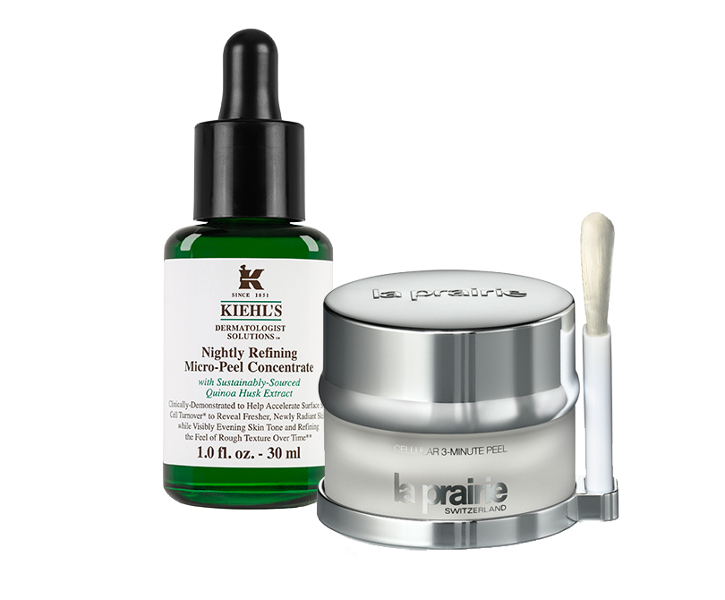 Микропилинг Nightly Refining Micro-Peel Concentrate от Kiehl's; Cellular 3-Minute Peel от La Prairie