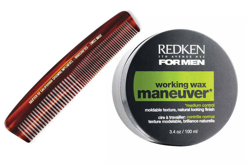 Гребень Baxter of California и воск для укладки Redken Working Wax Maneuver