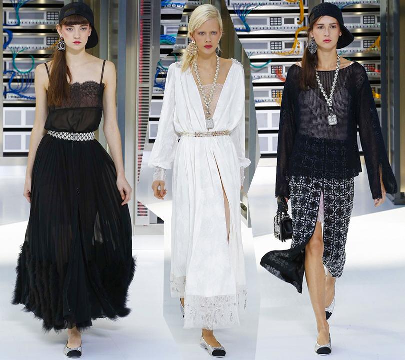 9e40657653d Style Notes  взгляд в будущее. Показ Chanel на Неделе моды в Париже ...