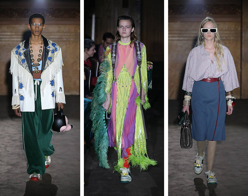 Приключения итальянцев во Франции  показ коллекции Gucci на Неделе моды в  Париже 0775560a6ff