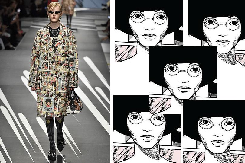 Суперженщины  художницы комиксов в коллекции Prada   Posta-Magazine ... f06ac627605a5
