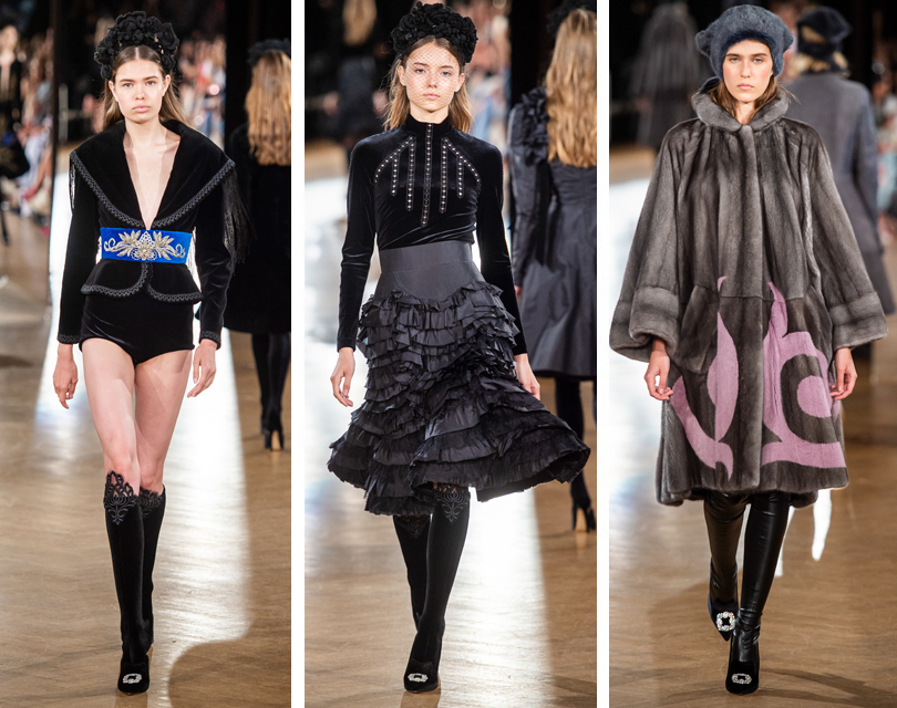 d64310f4fc38 Российские дизайнеры на Неделе высокой моды в Париже  показ Yanina Couture