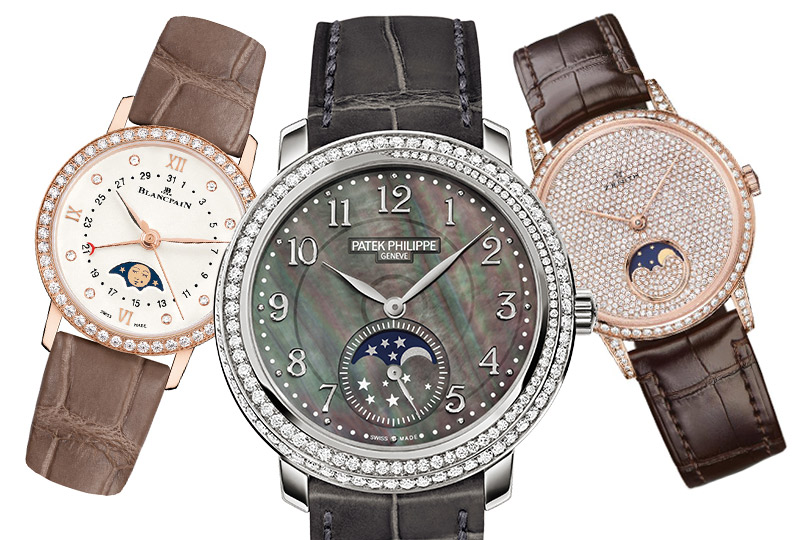 Blancpain Villeret Date Moonphase, Patek Philippe Moonphase, Zenith Elite Lady Moonphase