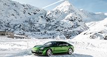 Идея на каникулы: Швейцария — ледяные горки с Porsche Panamera GTS