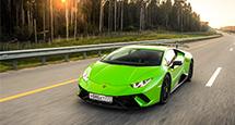 Авто с Яном Коомансом: за рулем Lamborghini Huracan Performante на дороге и на треке