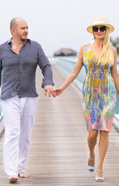 #postatravelnotes Актриса Анна Чурина и кинопродюсер Алексей Петрухин в Conrad Maldives Rangali
