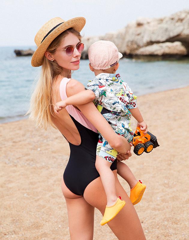 Ясмина Муратович с сыном Данилой