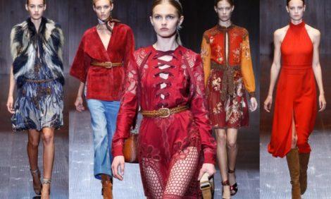 Неделя моды в Милане: 1970-е, милитари и этника на показе Gucci