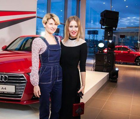 Авто: «Вечерний Ургант» с Ксенией Собчак и Полиной Киценко в «Ауди Алтуфьево»