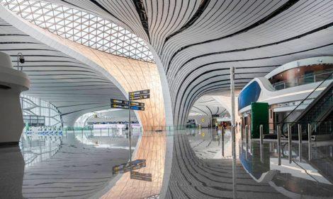 Как выглядит новый аэропорт Пекин Дасин, спроектированный Захой Хадид?