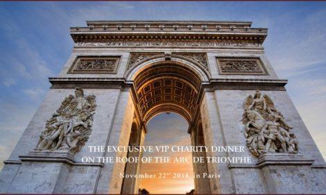 Идея дня от UUU Luxury Concierge: благотворительный ужин на крыше Триумфальной арки