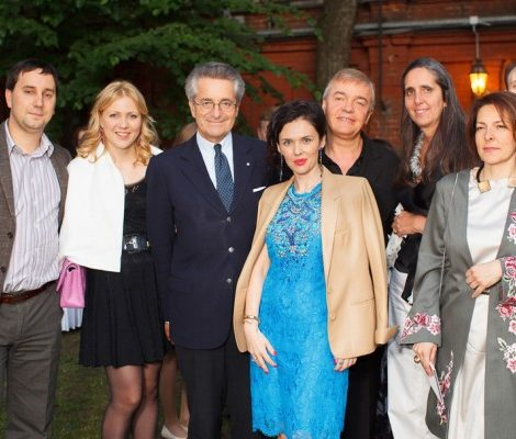 Презентация новой коллекции Лючии Одескальки в Итальянском посольстве