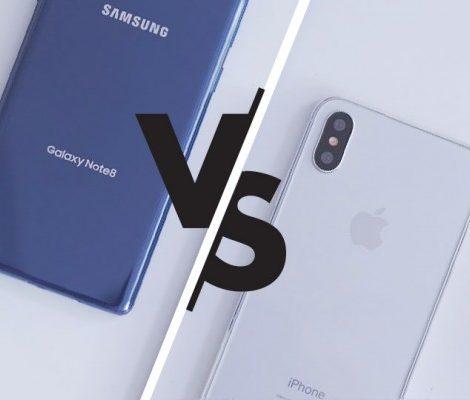 Выбираем гаджет:  Apple iPhone X или Samsung Galaxy Note 8?