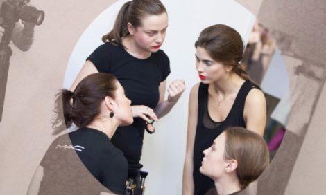 Backstage: макияж  M.A.C для показа Natalia Valevskaya Spring-Summer 2013