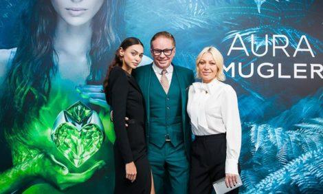 Запуск новой женской линии Aura парфюмерного дома Mugler