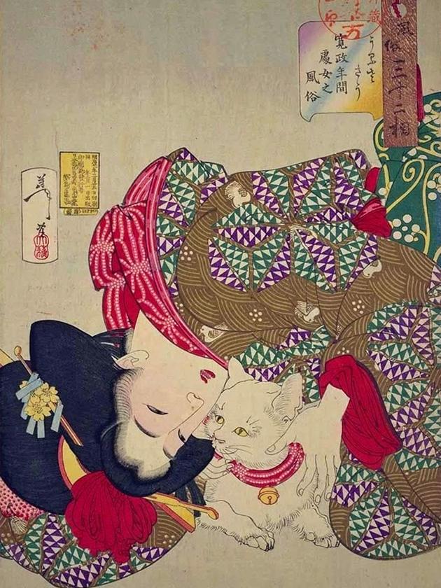 Портрет «сёдзё» (девственницы) эпохи Кансэ́й [1789-1800]