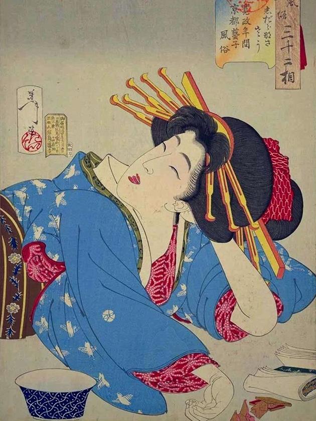 Гейша из Киото эпохи Кансэ́й [1789-1801]