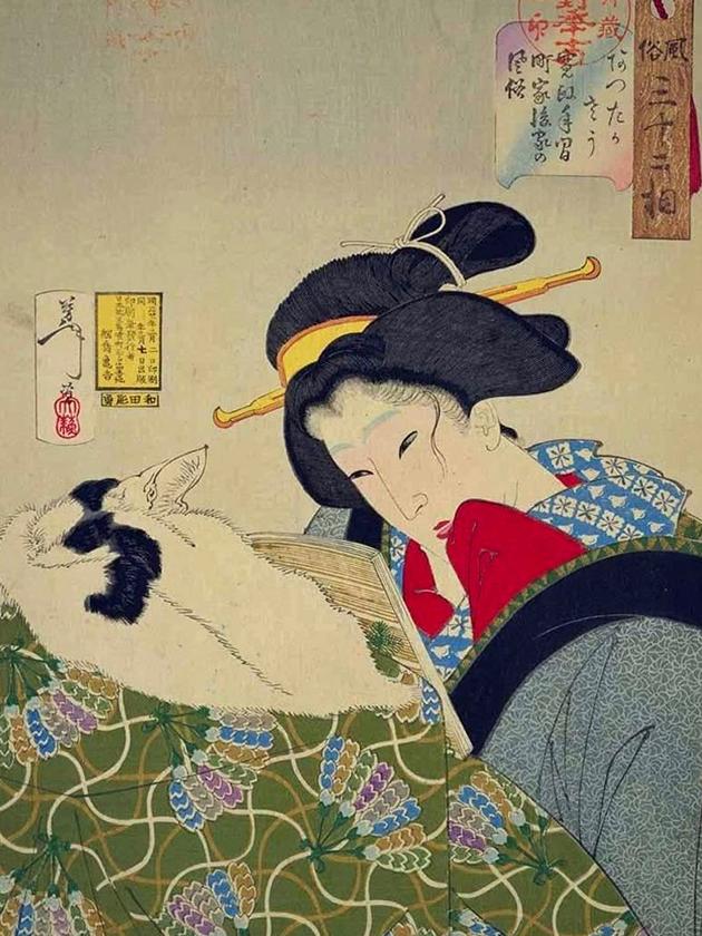Вдова-горожанка эпохи Кансэ́й [1789-1801]