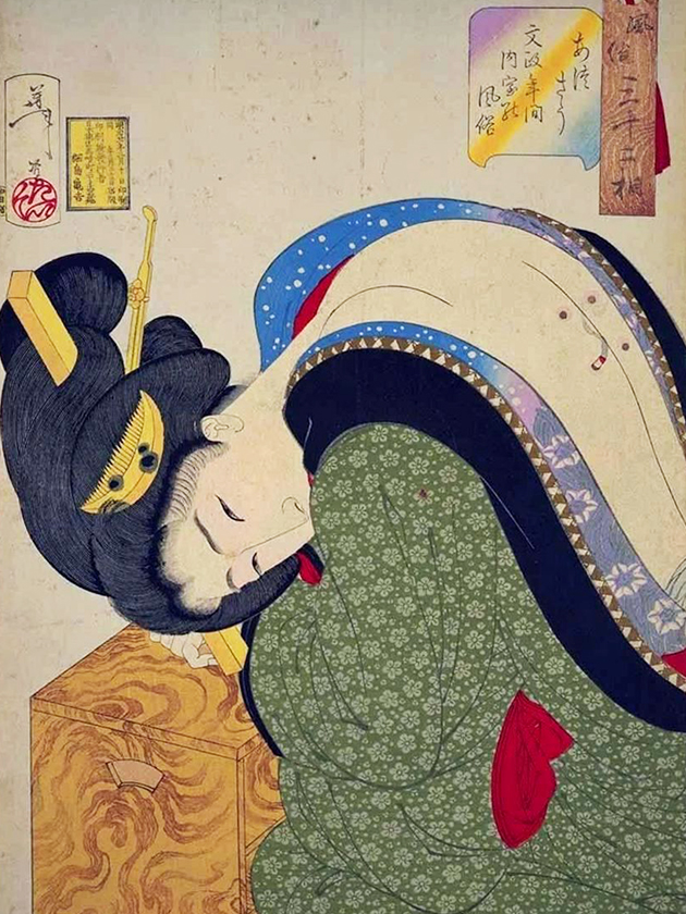 Богатая домохозяйка эпохи Бунсэ́й [1818-1830]