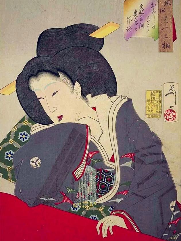 Фрейлина высокого ранга эпохи Бунсэ́й [1818-1830]