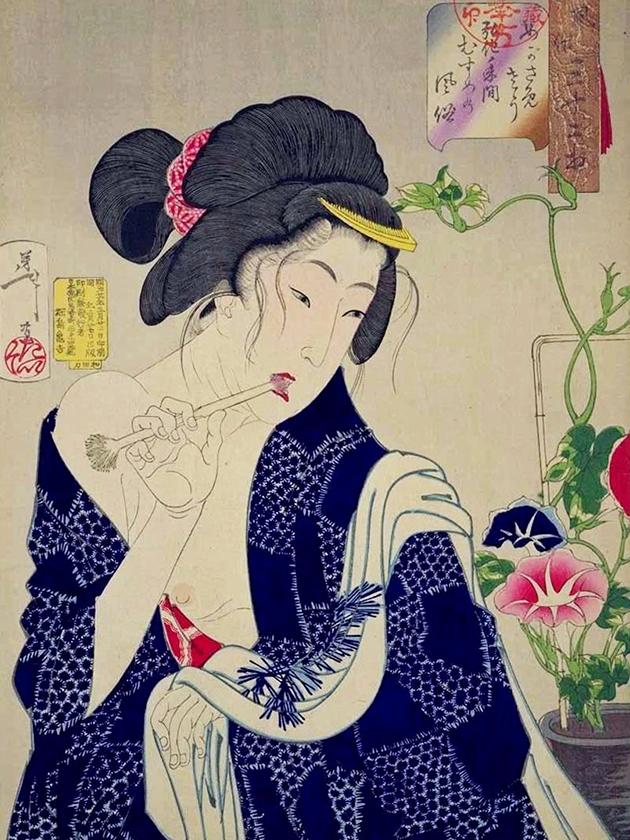 Юная дева (мусумэ́) эпохи Ко́ка [1844-1847]