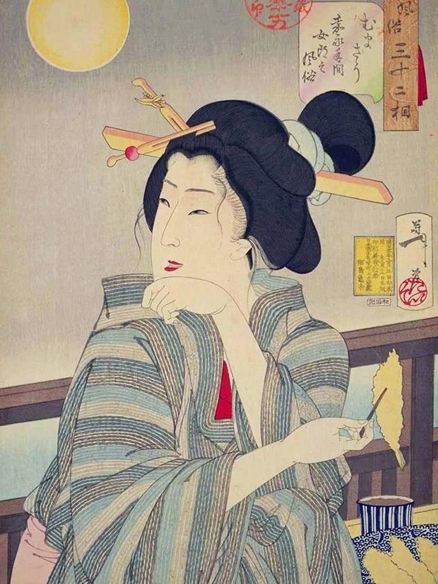 Уличная проститутка (дзёро́) эпохи Кайэ́й [1848-1854]