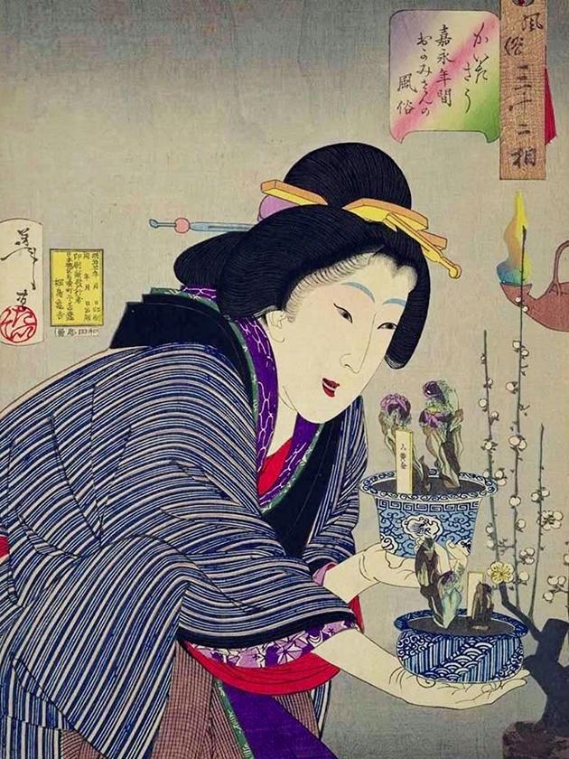 Хозяйка заведения (ка́ми-сан) в эпоху Кайэ́й [1848-1854]