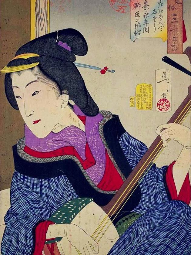 Учительница музыки эпохи Кайэ́й [1848-1854]