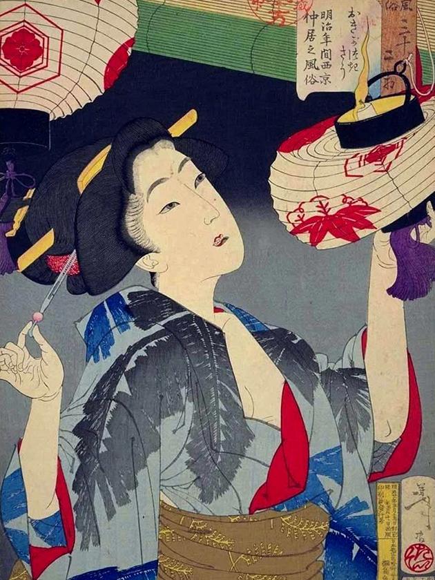 Официантка в Киото эпохи Мэйдзи [1868-1912]
