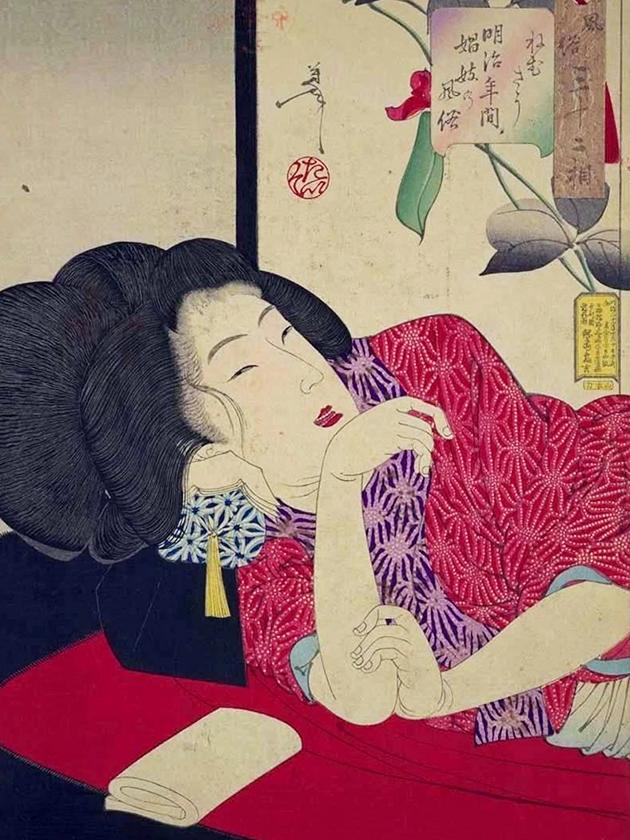 Уличная проститутка эпохи Мэйдзи [1868-1912]