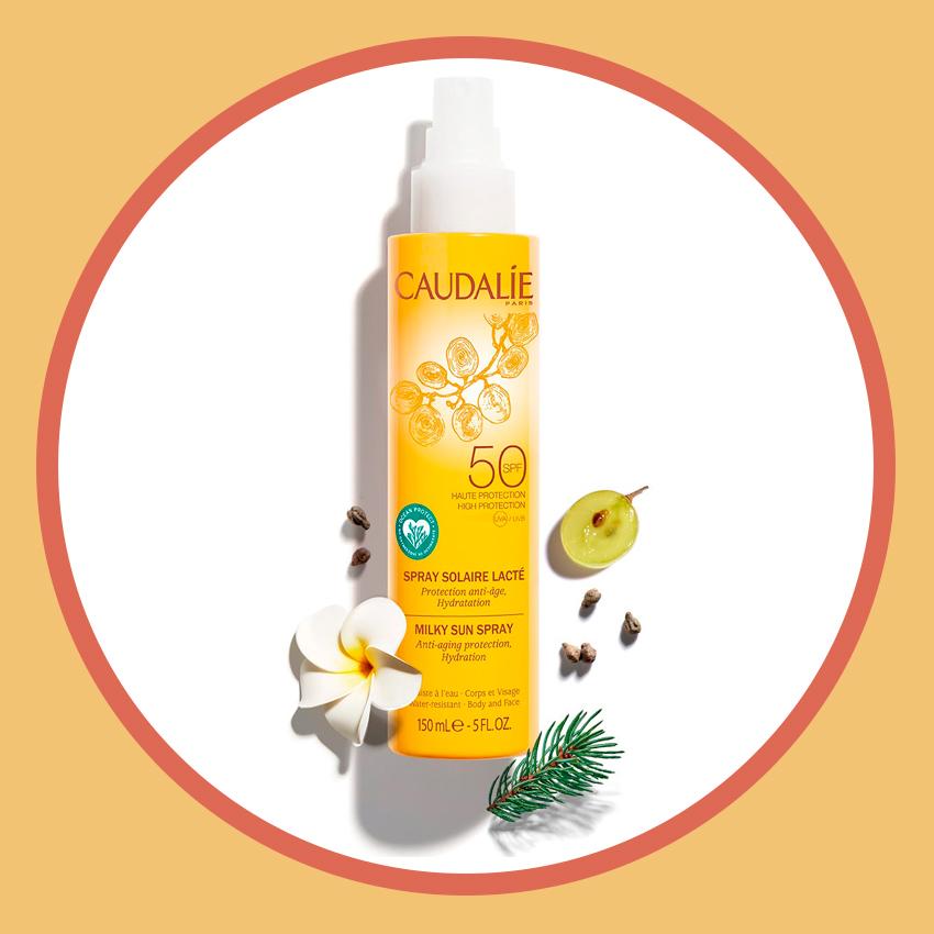 Солнцезащитное молочко-спрей для лица и тела, SPF 50, Caudalie