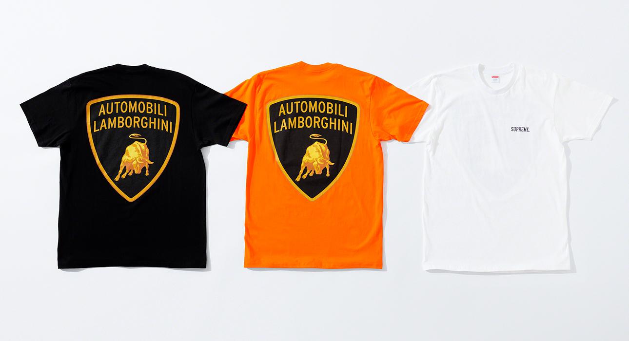 Капсульная стритвир-коллекция Lamborghini x Supreme