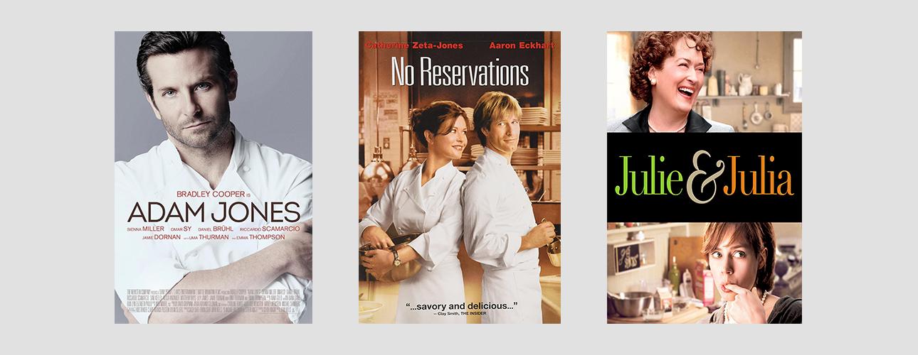 «Шеф Адам Джонс» с Бредли Купером, «Вкус жизни» с красоткой Кетрин Зета-Джонс и, конечно же, «Джули и Джулия» с неподражаемой Мэрил Стрип в роли легендарной телеведущей и кулинара Джулии Чайлд